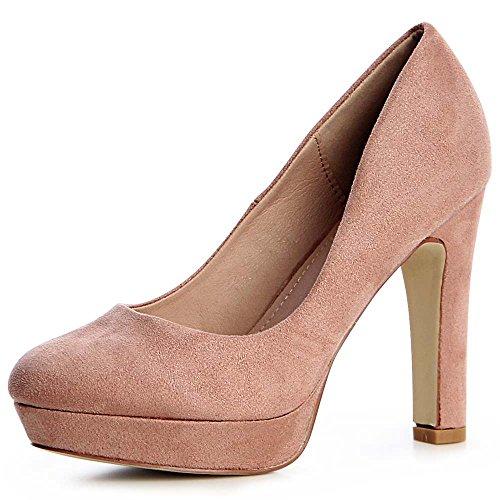 Femmes 881 topschuhe24 Rose Vieux Pompes SvqwwgO