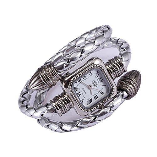 Women Automatic Mechanical Wrist Watch with PU Band (White) - 9