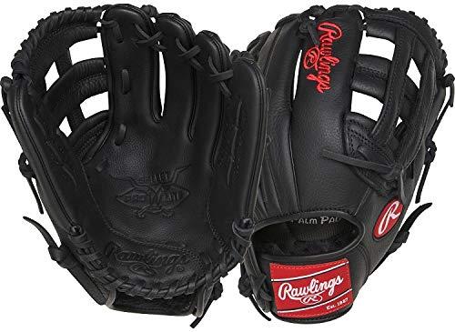 Rawlings Select Pro Lite Youth Baseball Glove, Black, - Infield Leather Glove