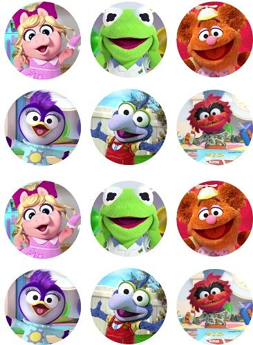 (New Muppet Babies ~ One Dozen ~ Cupcake Topper ~ Edible Frosting)