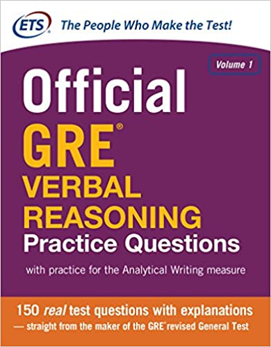 Amazon.com: Official GRE Verbal Reasoning Practice Questions: 1 ...