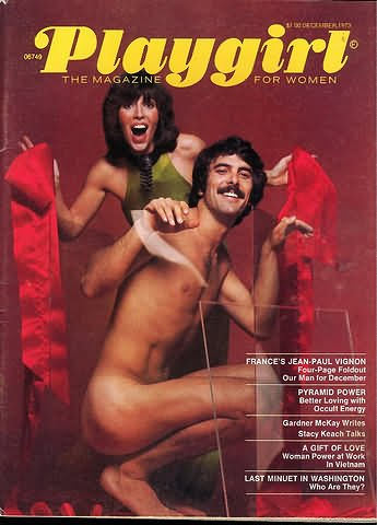 PLAYGIRL MAGAZINE, issue dated   December 1973: Jean-Paul Vignon Four Page NUDE pullout; Viewpoint on Marriage