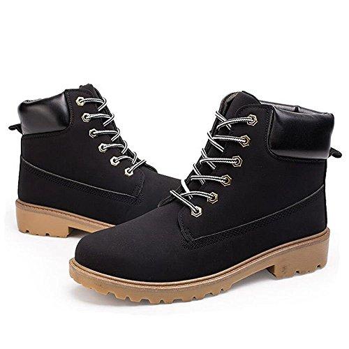 Boot per Winter Stivali Bandages Worker Boots Martin Casual Uomo Nero Keephen Mid Martin Boots Combat Stivaletti Boot Outdoor HxXSwX1tZq