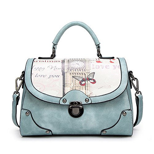 Blue Messenger Large capacity Simple Handbag Personality Casual Color Bag FangYOU1314 Shoulder Blue PUZBq0ww