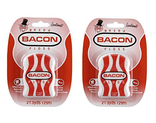 Accoutrements Waxed Bacon Floss (Pack of 2)