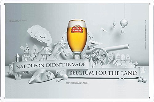 tin-sign-metal-poster-plate-8x12-of-stella-artois-beer-belgium-for-the-land-by-food-beverage-decor-s