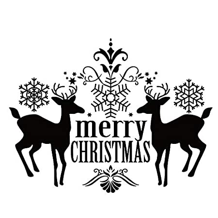 zhuziji Navidad Pegatinas de Ventana Extraíble DIY Pared de ...