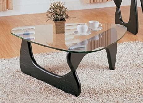 Homelegance Chorus Glass Top Cocktail Table In Black