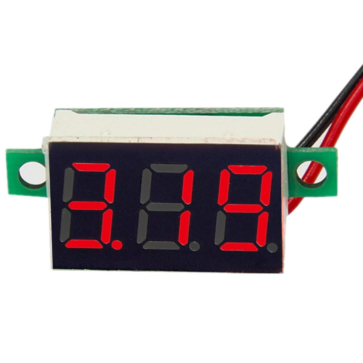 Digital 0.36inch LED Voltage Meter DC 2.5~30V Voltmeter High Precision (Color : Blue) Tabpole