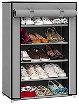 EMBROSS high Bond Plastic Shoe Rack Stand  Grey