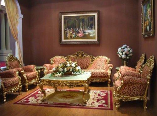 LouisXV Barroco Salón Sofá 3 mesa Sillón Vp0830 estilo ...