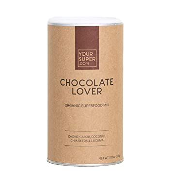 Chocolate Lover Superfood Mix by Your Super | Plant Based Mood Enhancement Powder | Reduce Sugar