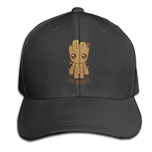 Men Cute Cartoon I Am Groot Baby Groot Cool Snapbacks Hat Sports Caps