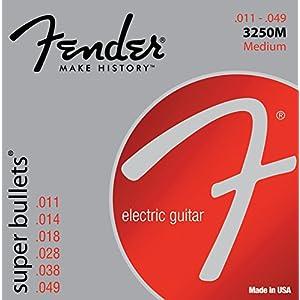 Fender 3250M Super Bullets Medium Nickel Plated Steel Guitar Strings (0.11-0.49) 6 Strings Set