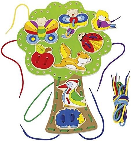 58945 Goki Threading Tree Juegos Educativos /Árbol para Coser,