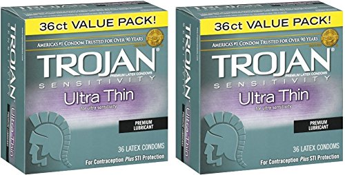Trojan Ultra Thin Latex Condoms, 72 Count by Trojan