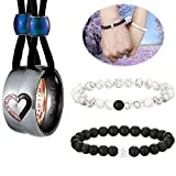 FIBO STEEL Distance Couples Bracelets Necklaces for Men Women Matching Gifts jewelry Set