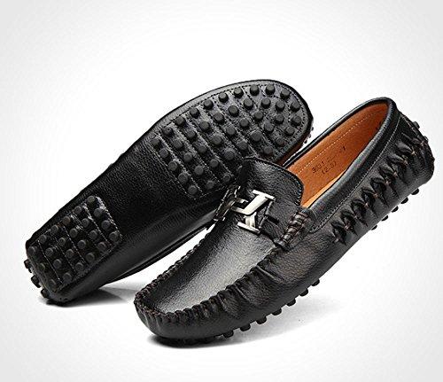 38 Zapatos Tamaño transpirables británico de viento Negro Negro Doug de zapatos hombres Color de los hombre conducción cuero de de zapatos zapatos perezosos ocasionales de vaca negocios pie 4wqPUFr4