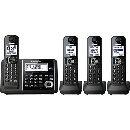 Panasonic KX-TGF344B DECT 6.0 Technology Expandable Up To 6 Handsets 3-Way Conferencing Night Mode Automatic Noise Reduction 4-Handset Landline Telephone (Phones 2015 Panasonic Cordless)