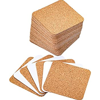 Amazon Com Qty 50 Plain White Square Coasters Zentangle Tiles Coasters