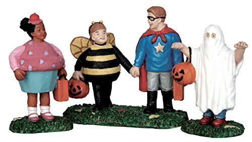 Lemax Spooky Town Village New Trick Or Treaters Halloween 3-Piece Figurine Set #52304 ()