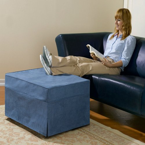 BW Products OTTOMAN BED WITH DENIM COVER
