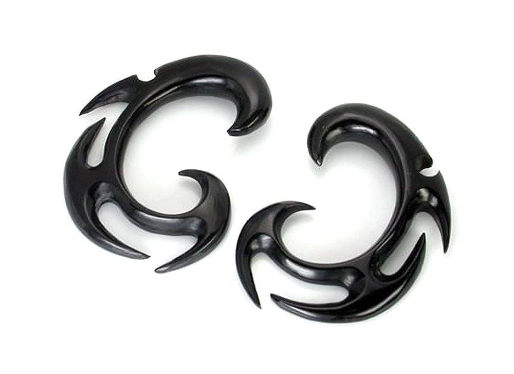 Elementals Organics Stars Black Horn Spiral Earrings Body Jewelry Price Per 2