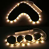YOUKOYI Battery Powered LED Strip Lights Flexible Motion Sensor Closet Light for Cabinet/Cupord/ Stairs, 4000k- 2 Pack