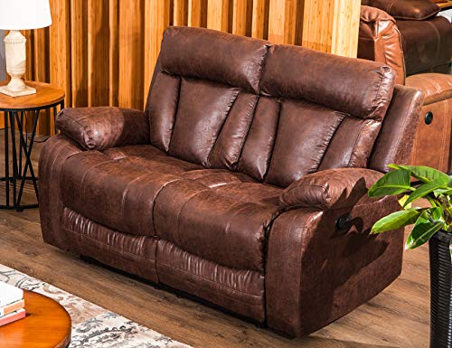 - FLIEKS Sectional Sofa Set Loveseat Chaise Reclining Couch Recliner Sofa Chair Leather Accent Chair Set Manual Recliner Motion for Living Room/Office