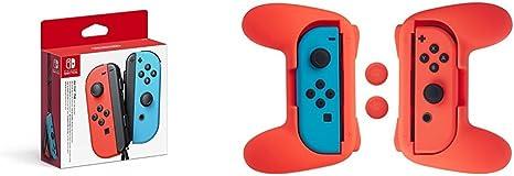 Nintendo Switch - Joy-Con set color azul y rojo + Kit de empuñaduras Joy-Con (Rojo) AmazonBasics: Amazon.es: Videojuegos