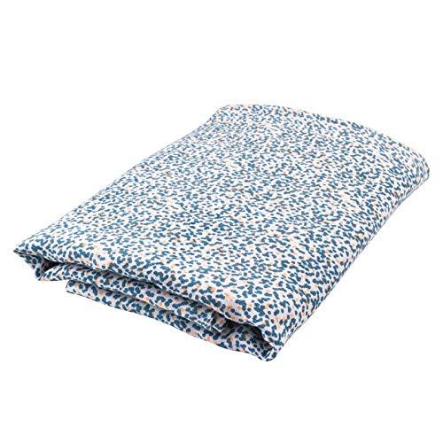 Oliver & Rain - Organic Cotton Muslin Giraffe Dot Print Swaddle Blanket, NB