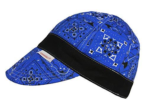 Blue Welder - Comeaux Caps Reversible Blue Banded Bandana (7)