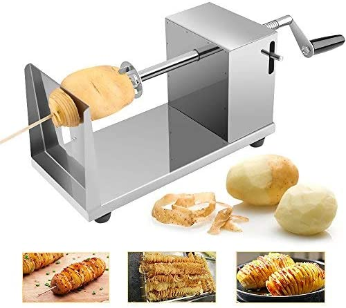 Uten Potato Twister Spiral Potato Cutter Stainless Steel Slicer Machine For Fruit Potatoes Tornado Chips Cucumber Or Carrots