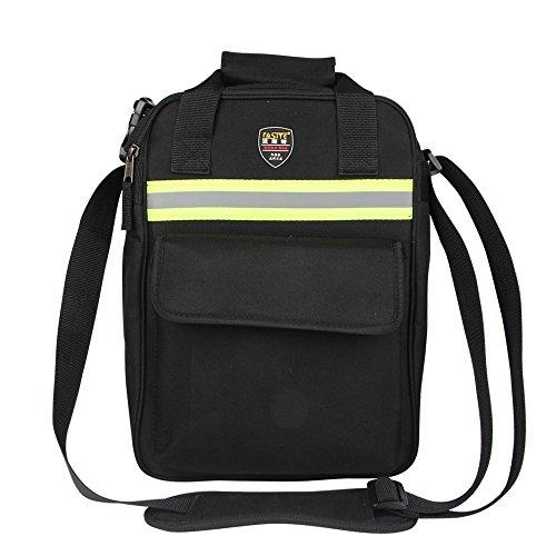 FASITE PT-N053-L Adjustable Shoulder Strap One Pockets Outside Tool Holder Bag with Reflective Strap,, Black&Blue