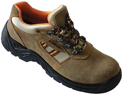 Schuhe Braun Leder Arbeitsschuhe 45 41 P 47 LC207 Sicherheitsschuhe Gr 38 braun 43 S1 46 44 39 40 Durchtrittschutz 42 qwIaI5Hr