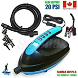 Seamax Intelligent 20PSI Digital 12V Electric Air Pump, Designed for Inflatable SUP & Paddle Board, Fast to Reach High Pressure
