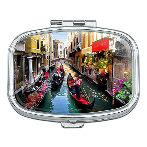 Venice Italy Gondolas Canals Rectangle Pill Case Trinket Gift Box