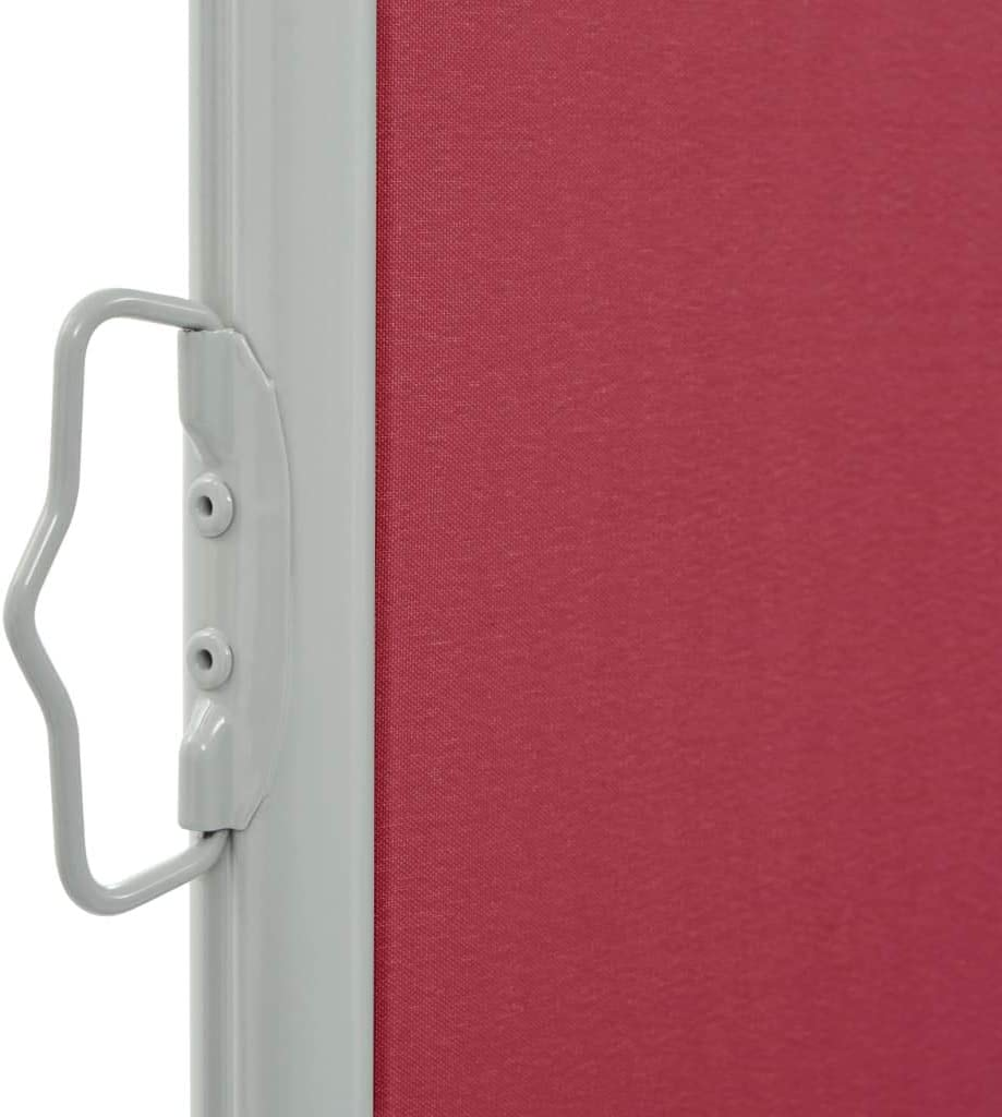 vidaXL Toldo Lateral Retr/áctil para Jard/ín Lona Parasol Patio Toldo Horinzontal Pantalla Rojo 100x300 cm