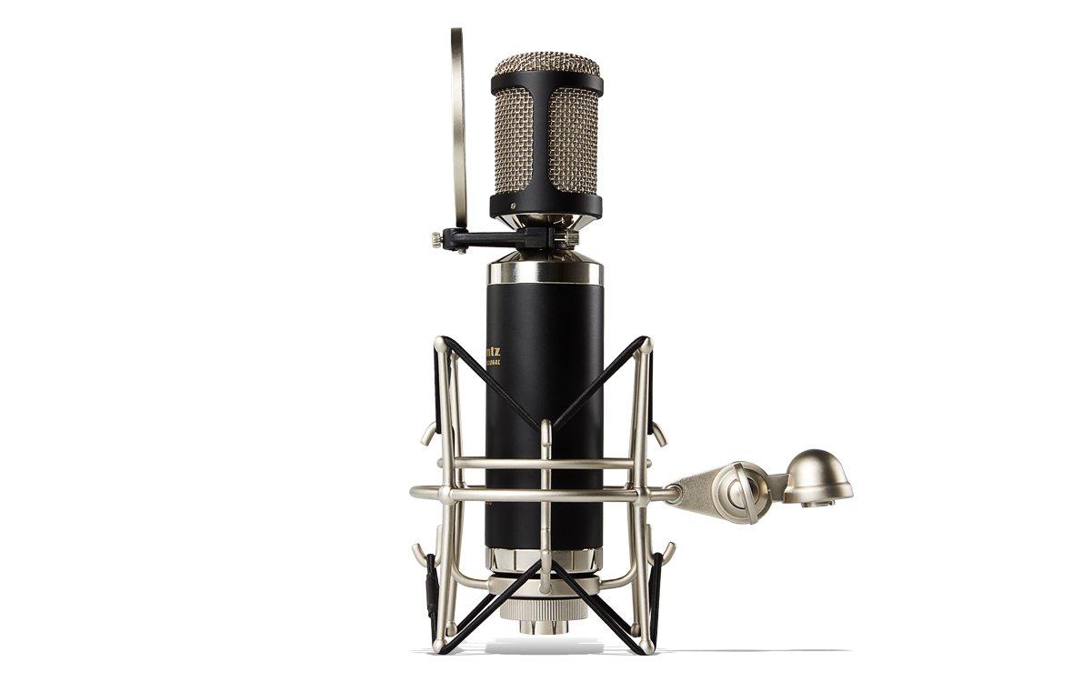 Micr/ófono de condensador y diafragma con ara/ña filtro anti-popping y malet/ín de aluminio Marantz Professional MPM2000