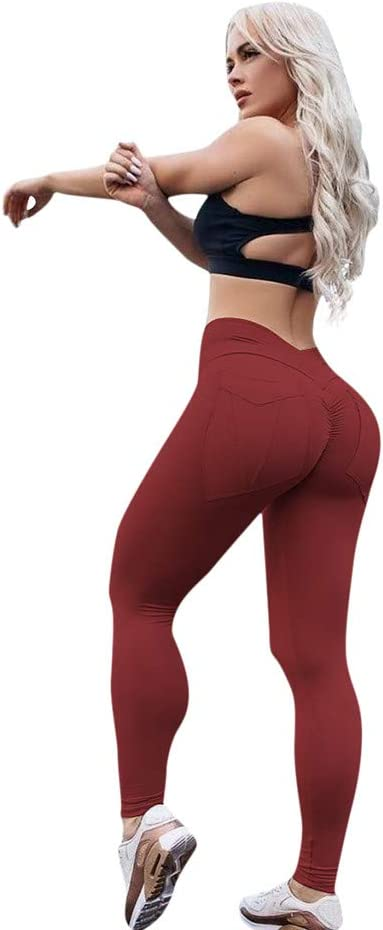 COPPEN Women Leggings High-Waisted Skinny Sport Push Up Yoga Pants