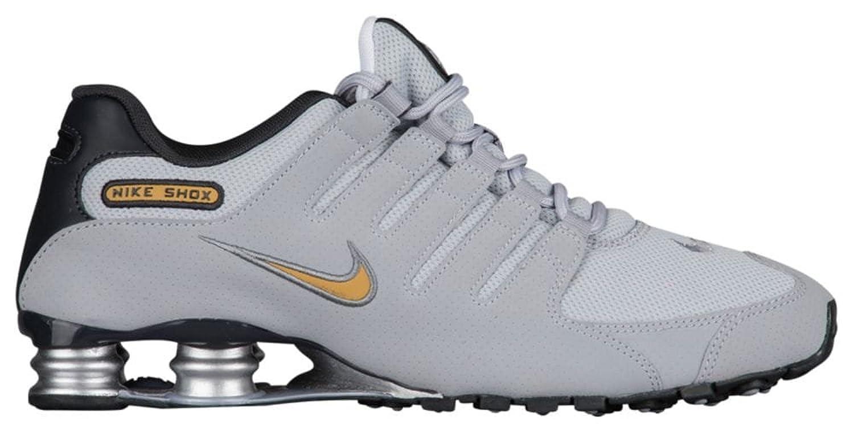 23fdd9a4a9e8 Cheap Nike Men Shox NZ Running Shoes Wolf Grey Metallic Gold Anthracite  11.5 D