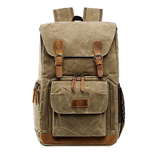 Orange Zebra Mini Backpack - TYPEIN Camping Hiking Bag Hot Premium Vintage Photography Backpack Waterproof Photography Canvas Bag