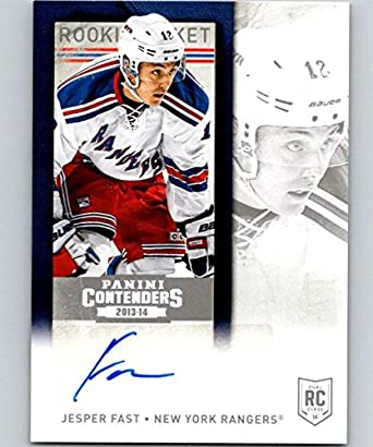 080e215cf 2013-14 Playoff Contenders Rookie Ticket Signatures  119 Jesper Fast 04414