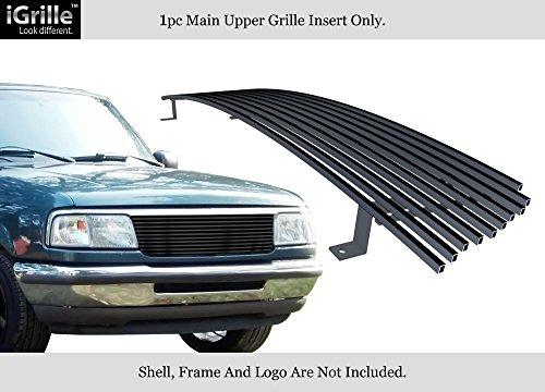 APS Fits 1993-1997 Ford Ranger Black Stainless Steel Billet Grille Grill Insert #F85013J ()