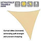 12' x 12' x 12' Sun Shade Sail Triangle for Patio