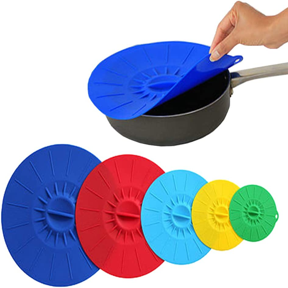 Silicone Suction Lids -Food Grade Silicone Bowl Lids Food Saver Covers Diameter 3.5