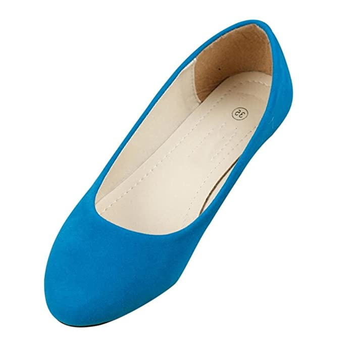 f8cee3d5efbed Minetom Women Comfortable All Match Suede Point Head Casual Flat Pumps  Ladies Work Girls School Dolly Shoes: Amazon.co.uk: Shoes & Bags