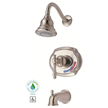 Glacier Bay Lyndhurst Single-Handle 1-Spray Tub and Shower Faucet in ...