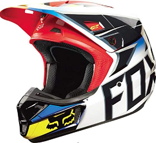 Fox Racing Race Men's V2 Motocross Motorcycle Helmet - Black/Red / X-Small ()