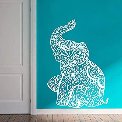 jiuyaomai Elefante Indio Wall Art Sticker Yoga Ganesha Style ...